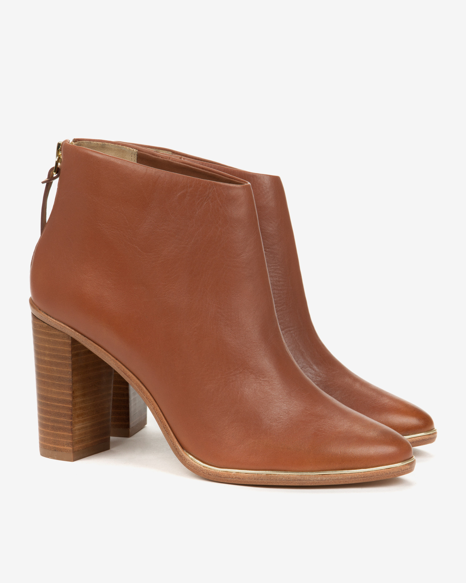 Ted baker Leather Ankle Boots in Brown | Lyst