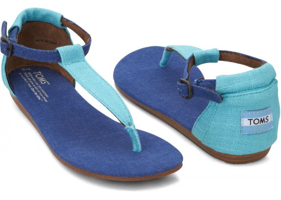 Toms Blue Mix Vegan Womens Playa Sandals In Blue For Men