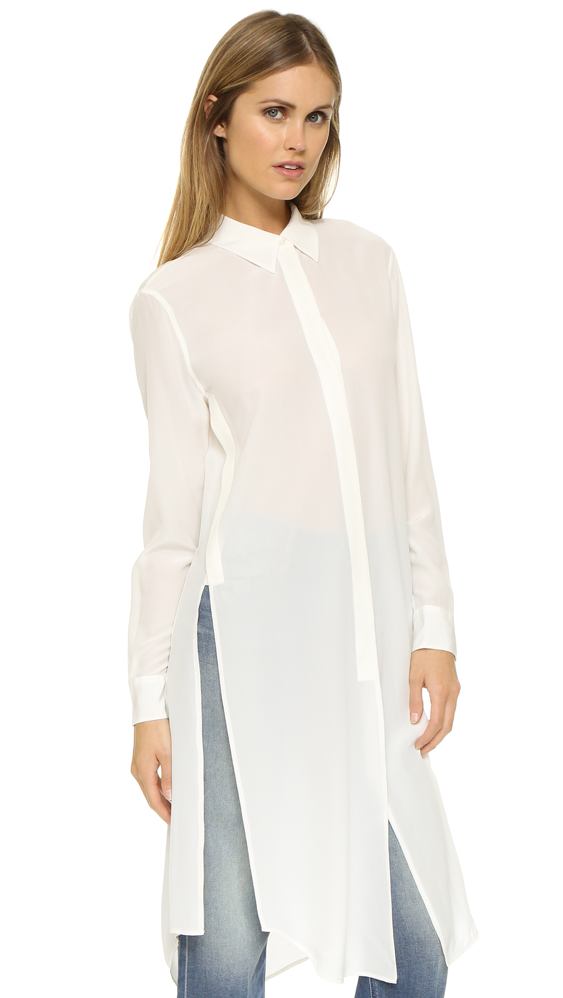 Equipment Pascal Tunic Dress in White - Lyst