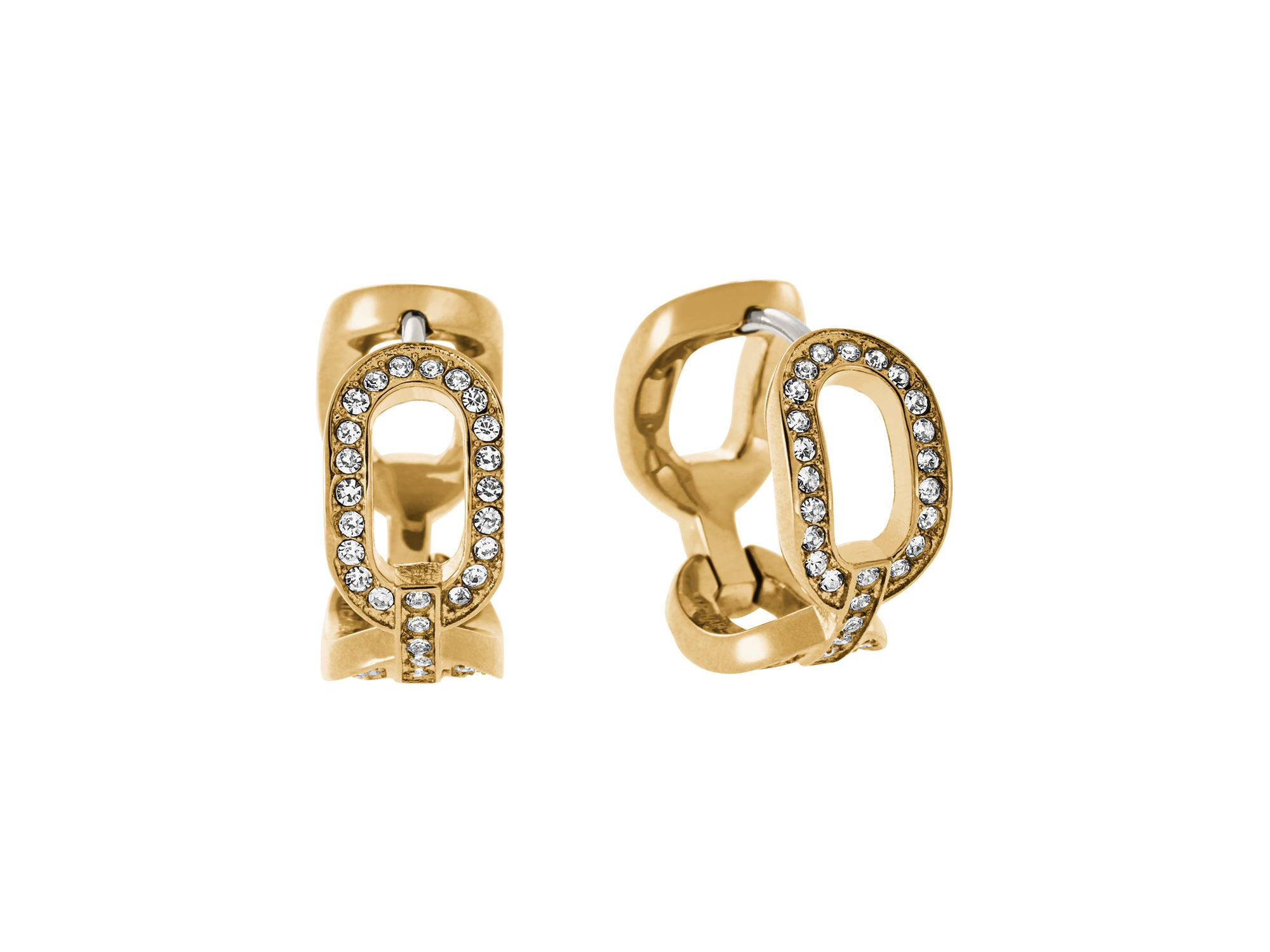 Michael kors frozen chain huggie earrings in gold gold for Michael b jewelry death