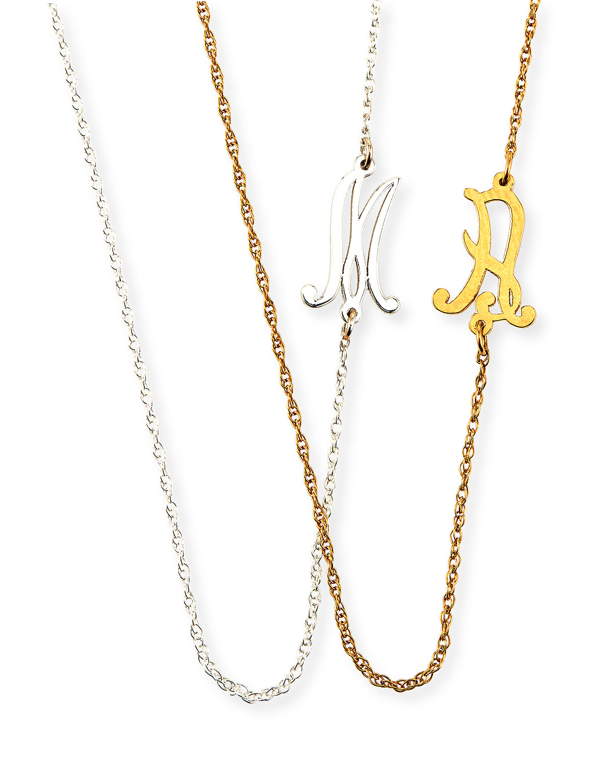 10 types gold pendant necklace with initials serpden