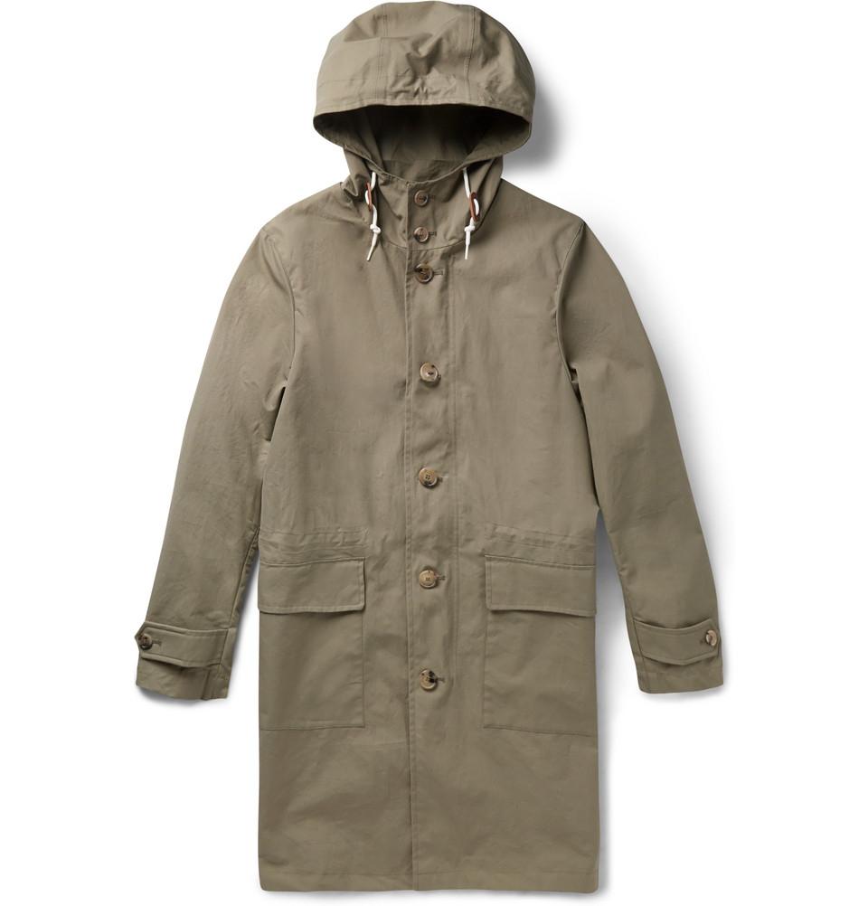 Lyst - Mackintosh Appin Ventile Hooded Rain Coat in Green ...