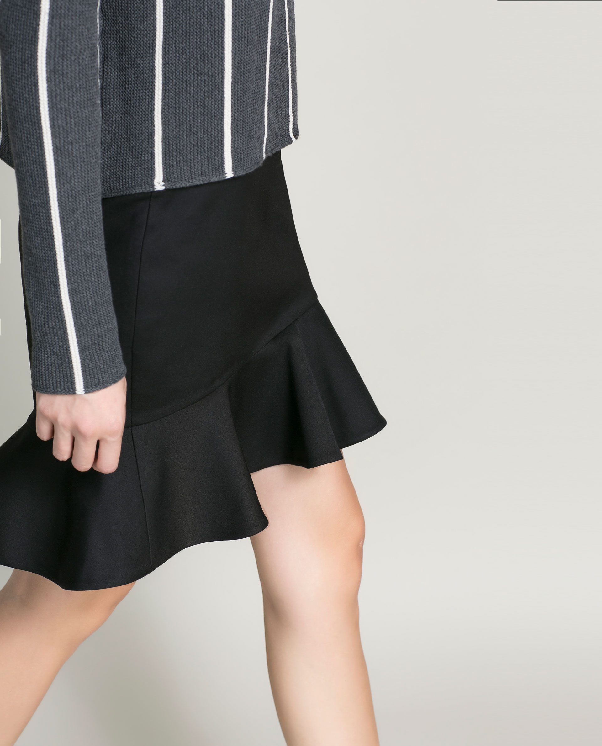 Pencil Skirt With Ruffle 80