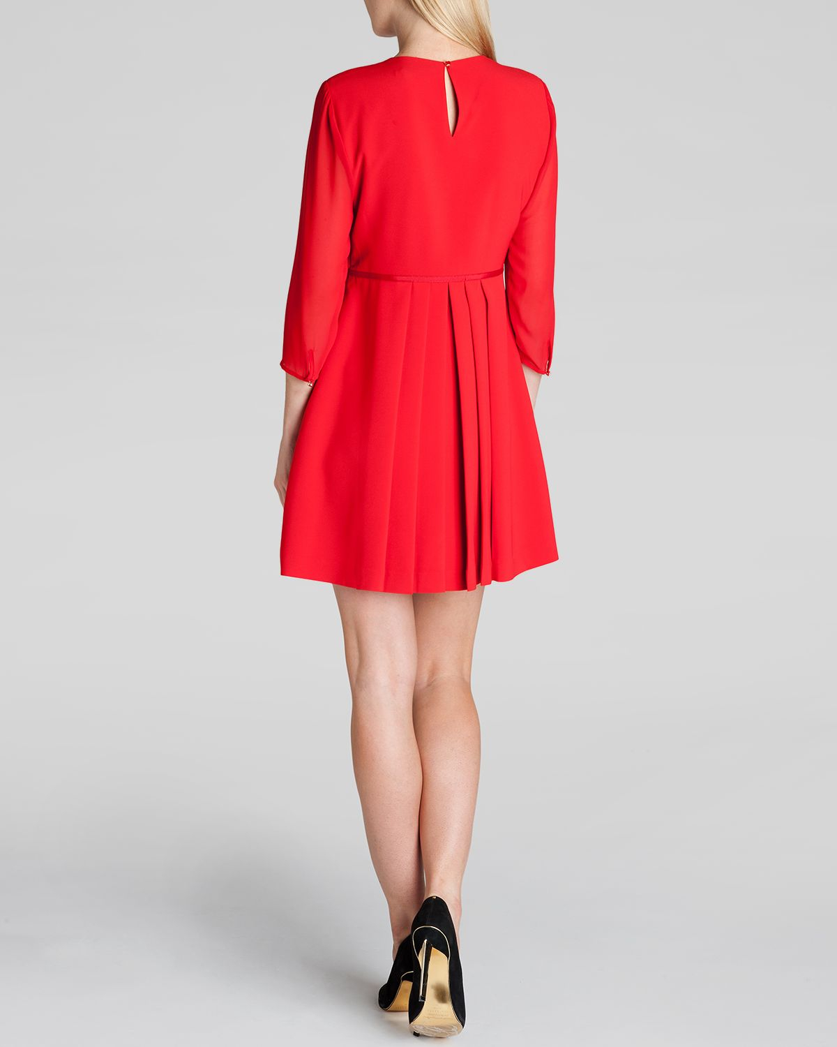 4f8026b0c4ed51 Lyst - Ted Baker Dress - Finna Bow Detail in Red