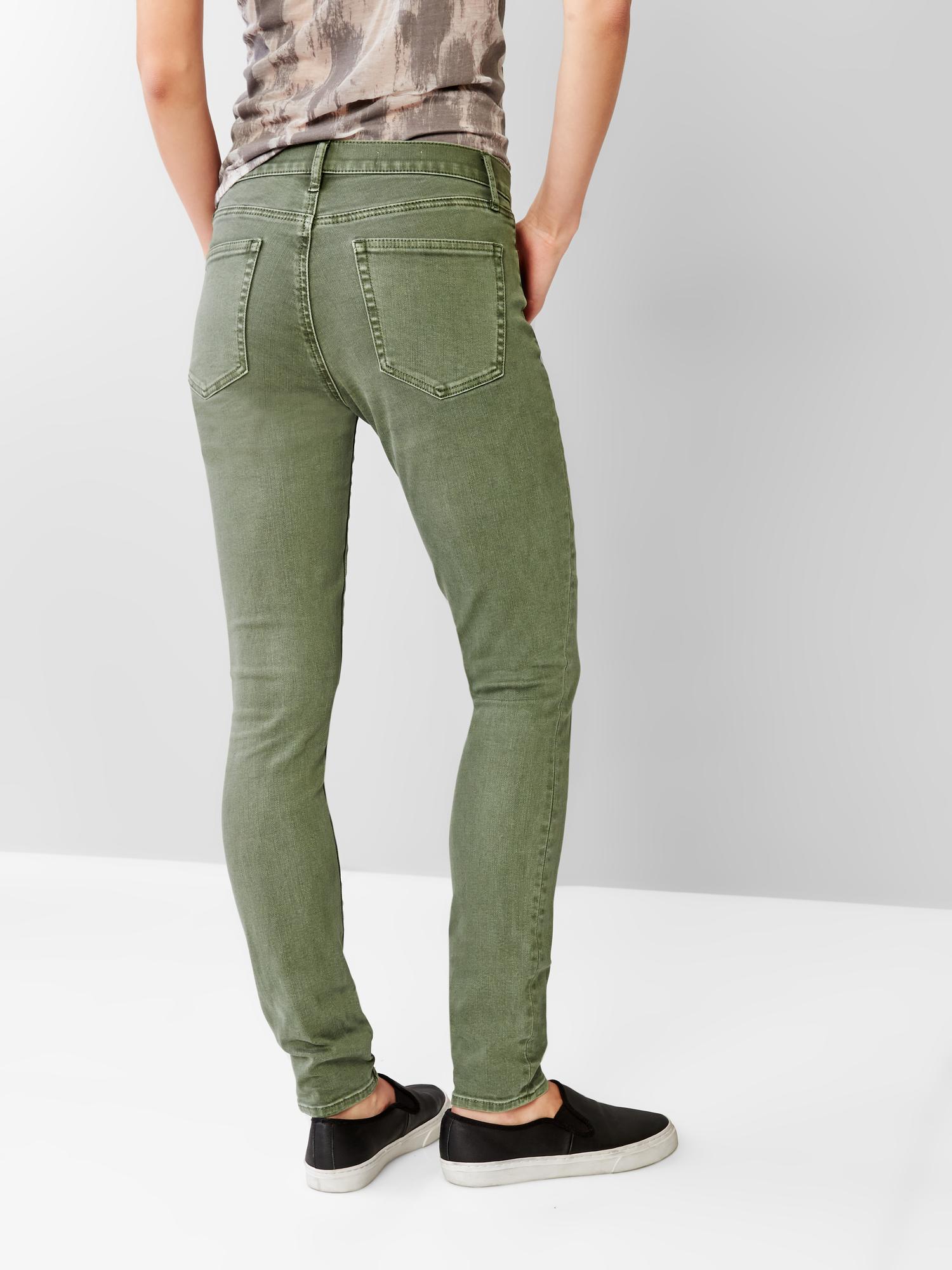 Gap 1969 Resolution True Skinny Jeans In Green Vintage