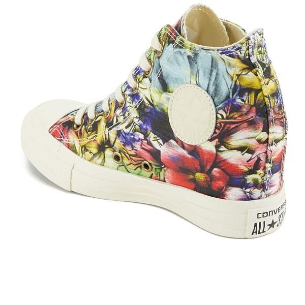 Converse Women S Chuck Taylor All Star Lux Floral Print Wedge Hi-Top ... c133bd043b