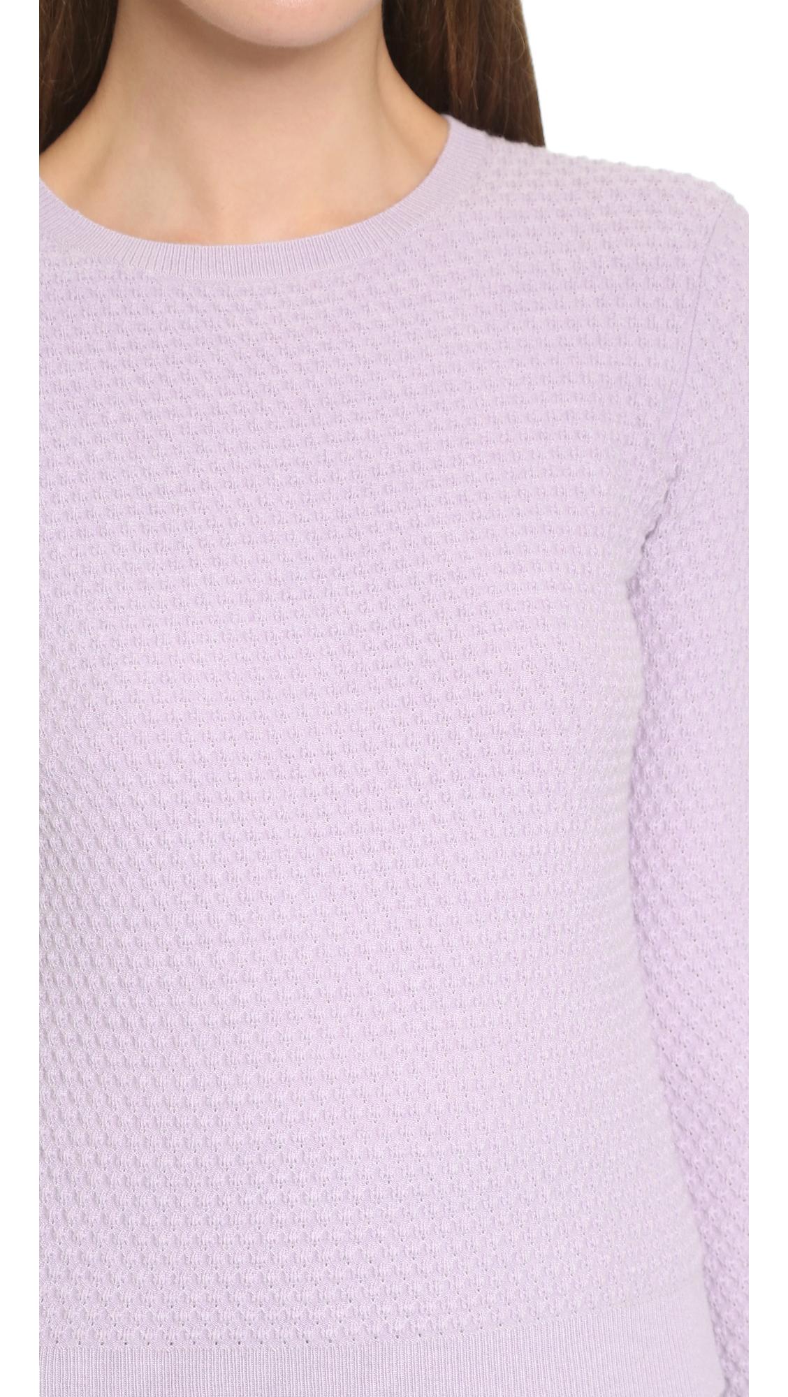 Carven Long Sleeve Sweater - Lilac in Purple | Lyst