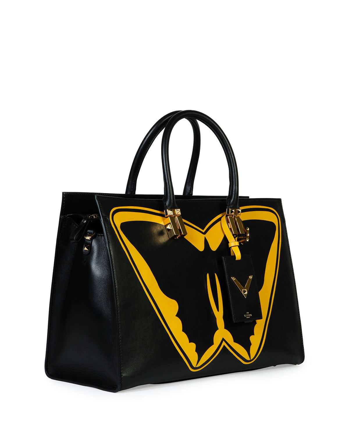 Valentino Superhero Batman Tote Bag In Yellow Lyst