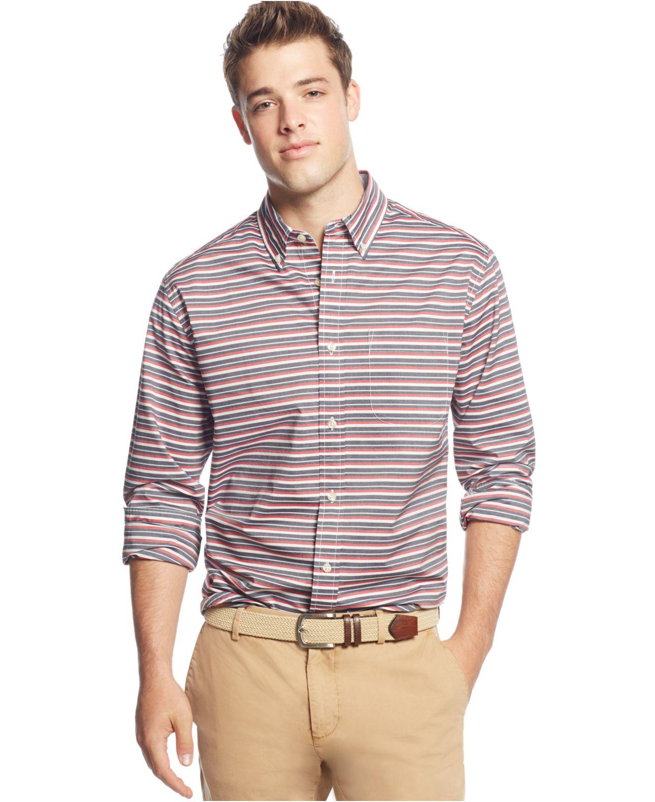 d2316c53 Tommy Hilfiger Active Horizontal Stripe Long-sleeve Button-down ...
