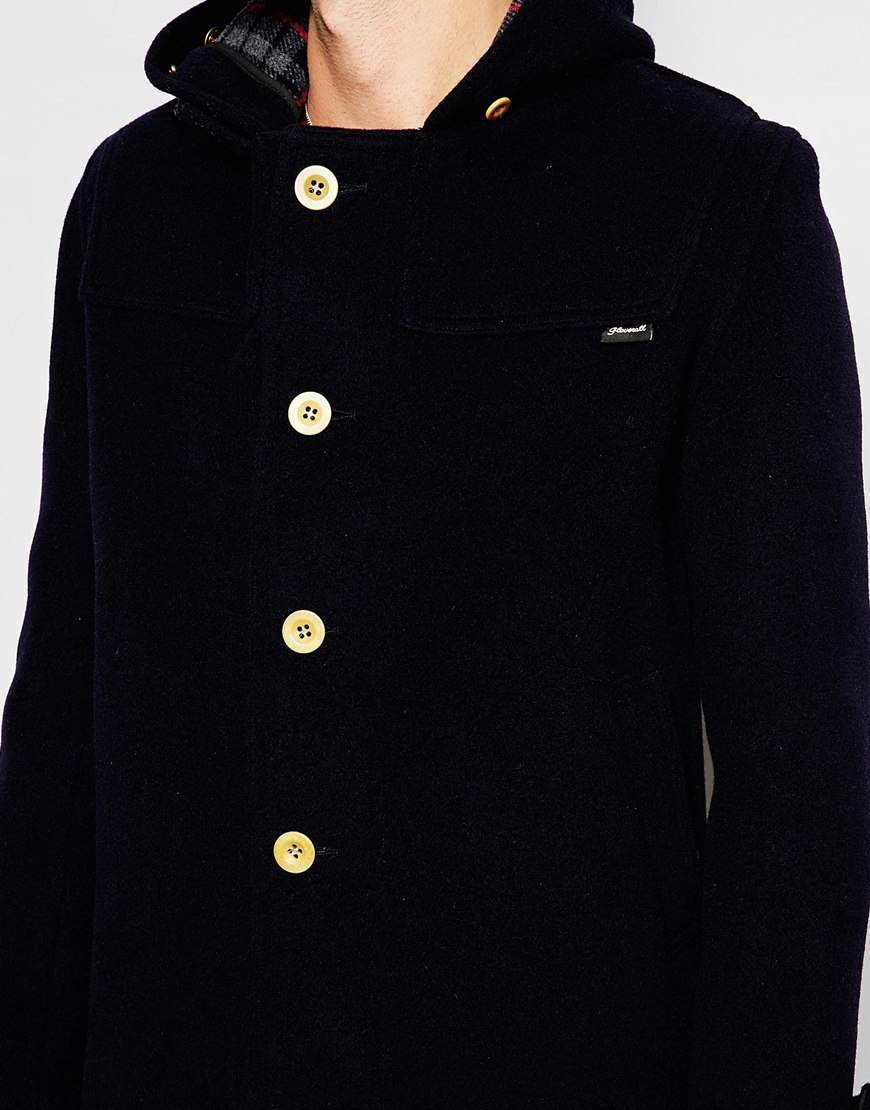 Gloverall Cropped Duffle Coat With Buttons Exclusive in Blue for ...