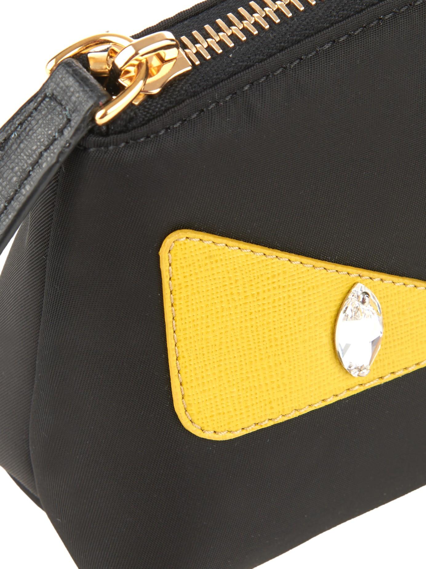 43b46954ae3e Lyst - Fendi Bag Bugs Cosmetics Case in Black