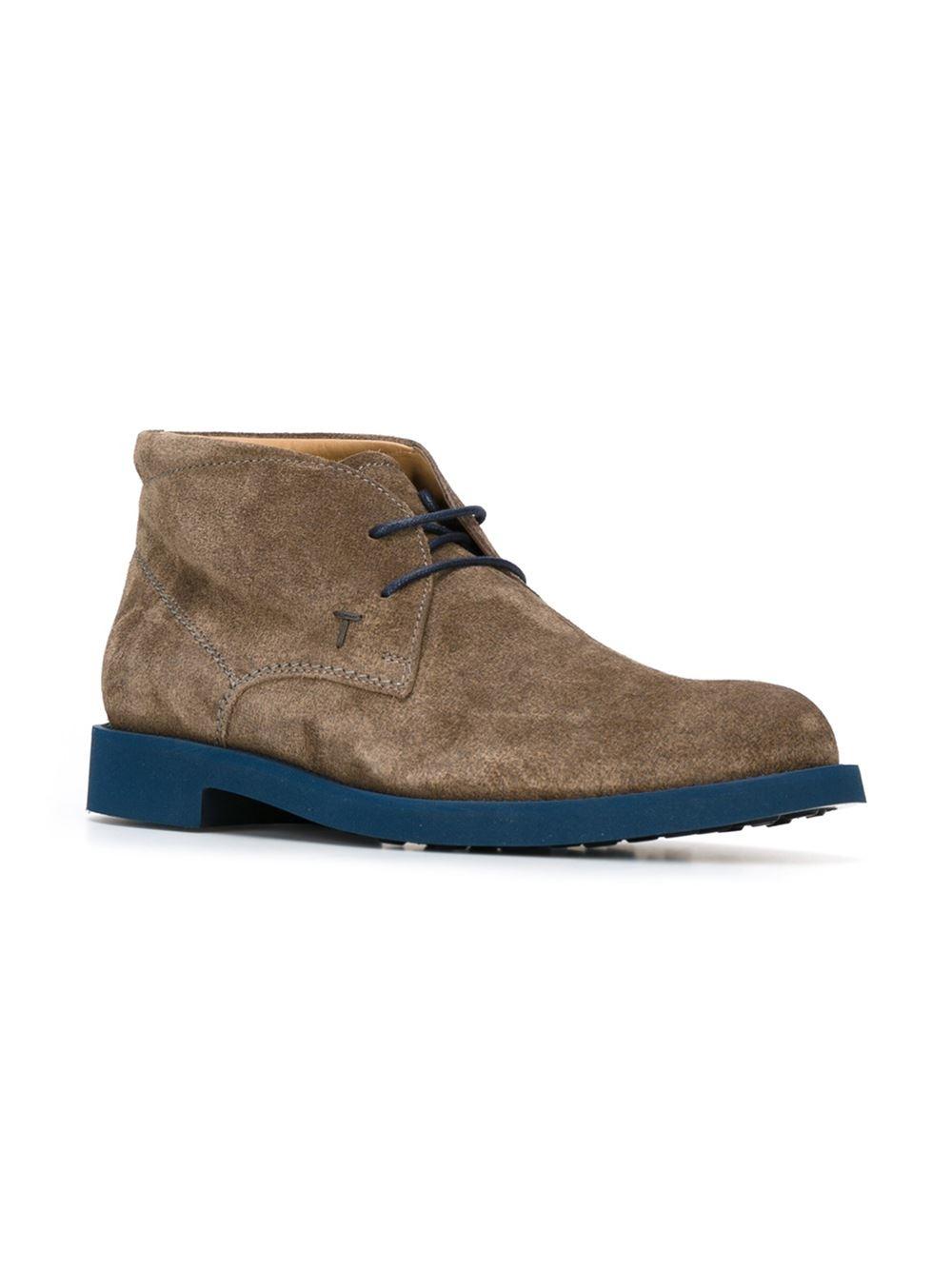 tod 39 s desert boots in gray for men grey lyst. Black Bedroom Furniture Sets. Home Design Ideas