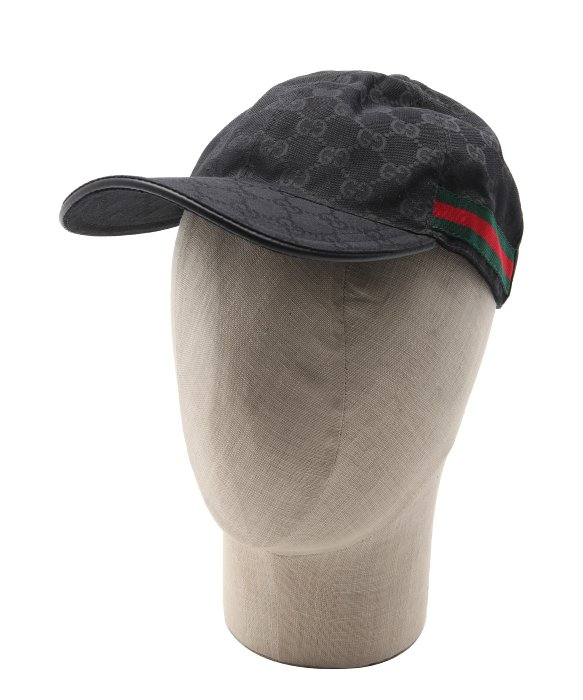 Gucci Black Leather Trimmed Ssima And Web Stripe Baseball Cap in ... 644a13e315d1