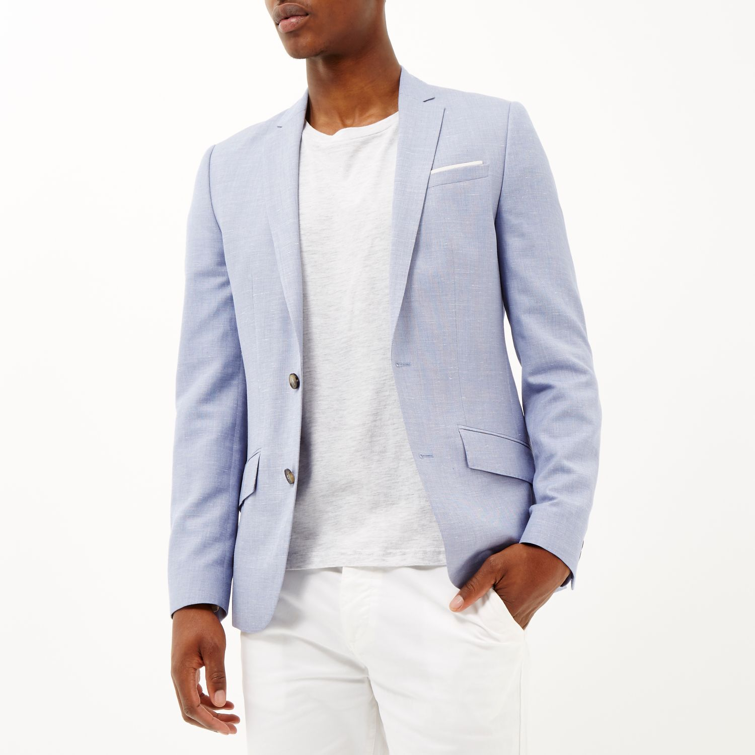 Light Blue Linen Blazer