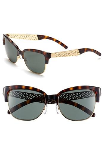 d5f16fed27 Tory burch 56mm Cat Eye Sunglasses in Brown