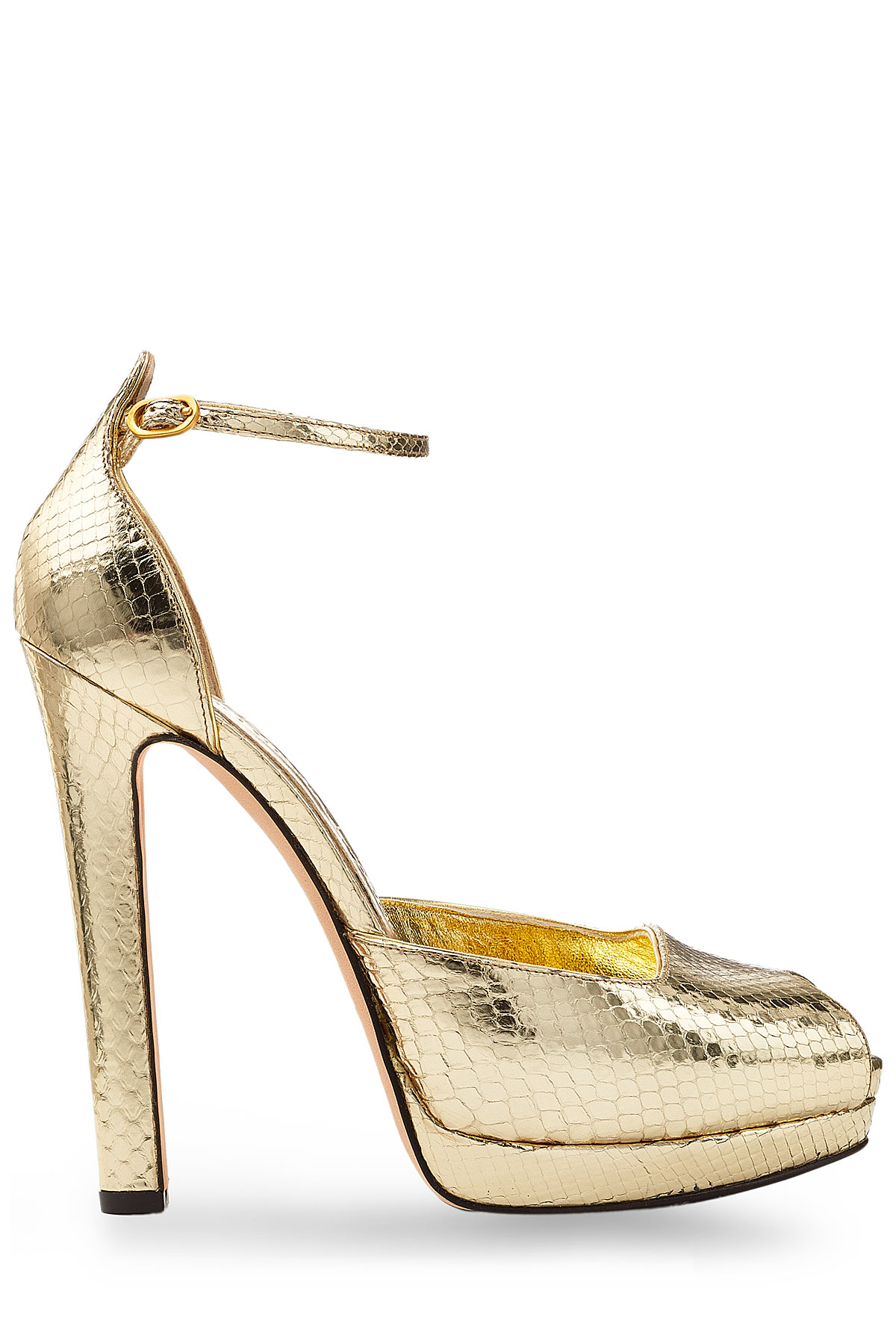 outlet wiki Alexander McQueen Metallic Cage Sandals nicekicks Jqqfhpm7