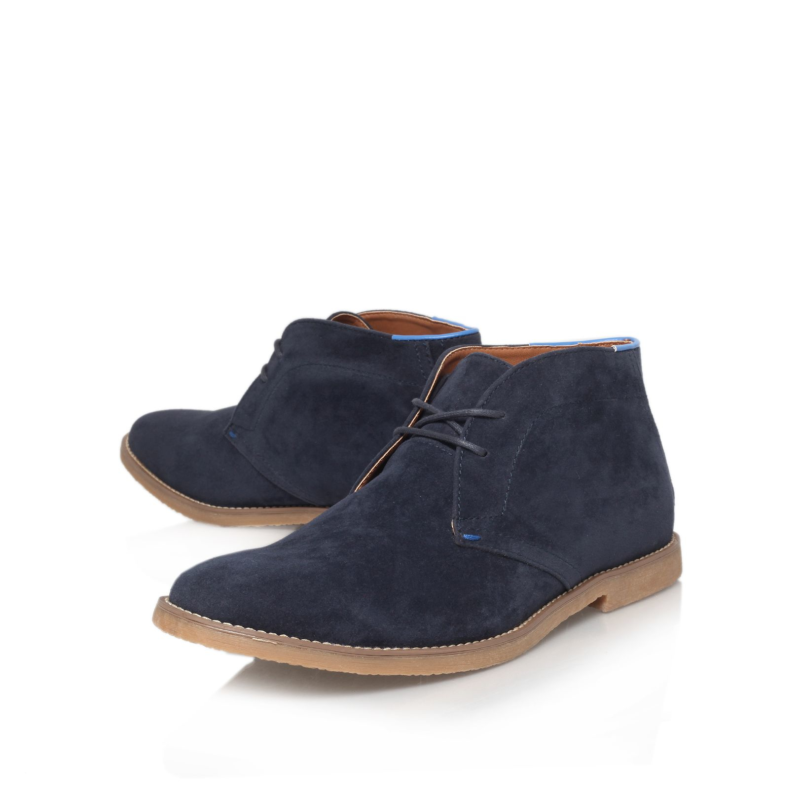 Lyst Kg By Kurt Geiger Bedford Tan Boots In Black For Men D Island Shoes Casual Zappato England Suede Dark Brown Gallery