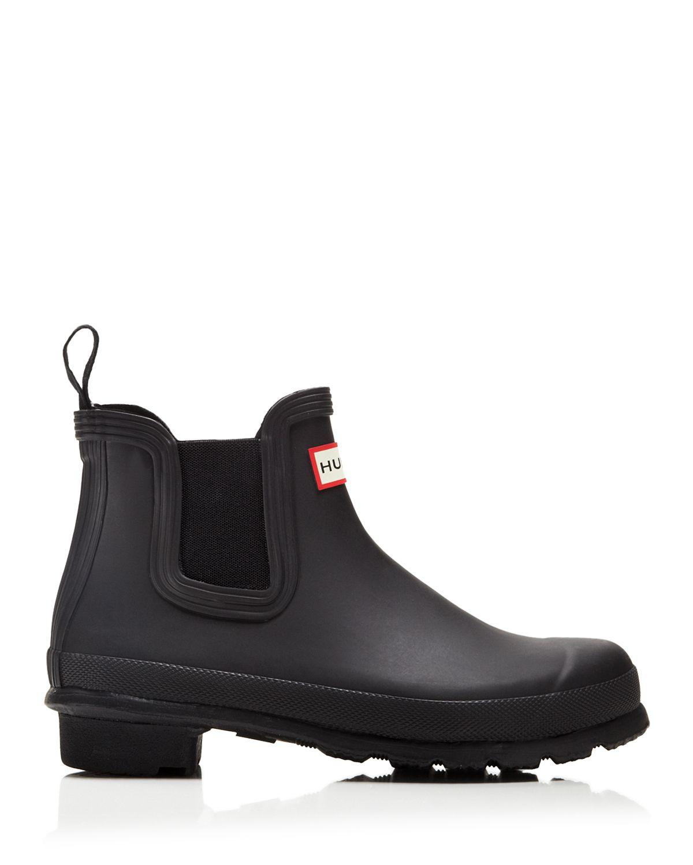 hunter original chelsea rain boots in black lyst. Black Bedroom Furniture Sets. Home Design Ideas