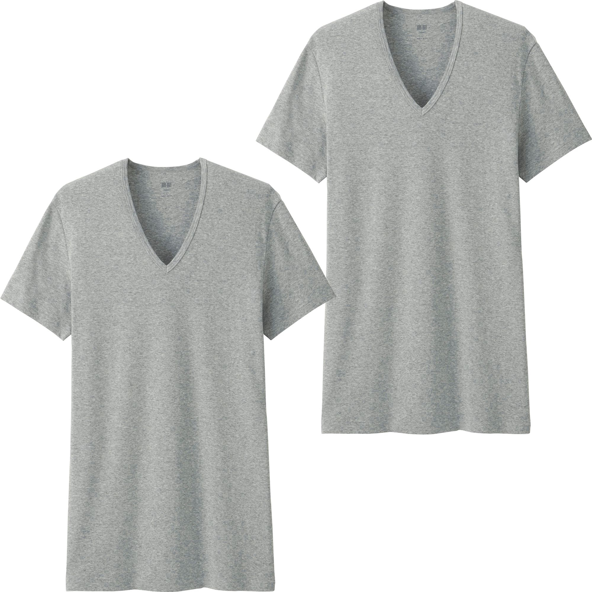 Uniqlo men 39 s supima r cotton t shirts 2 pack in gray for for Uniqlo t shirt sizing