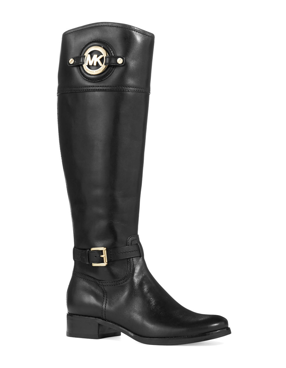 Michael michael kors Colorblock Riding Boots in Black | Lyst