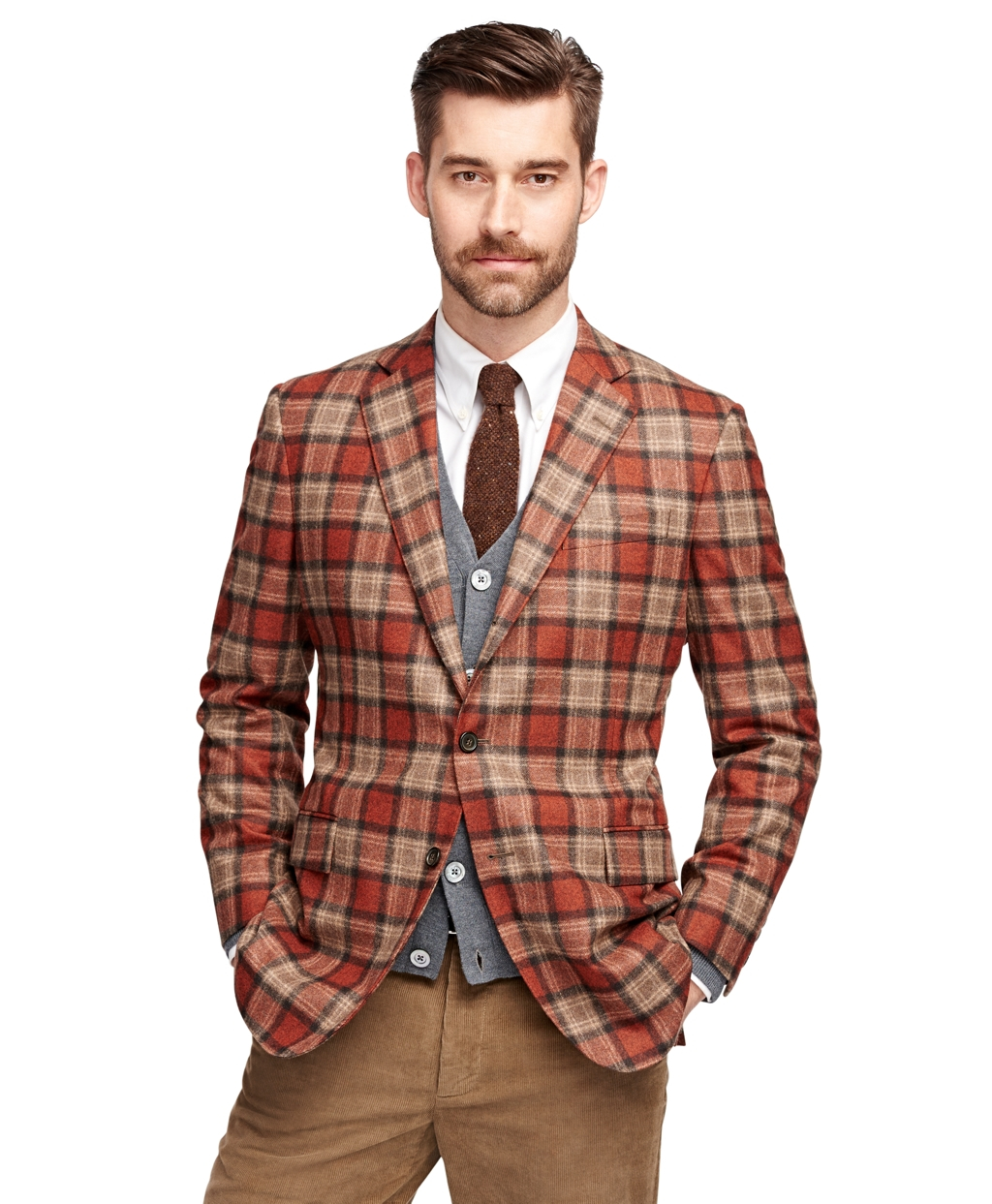 Brooks brothers Regent Fit Tartan Sport Coat in Red for ...