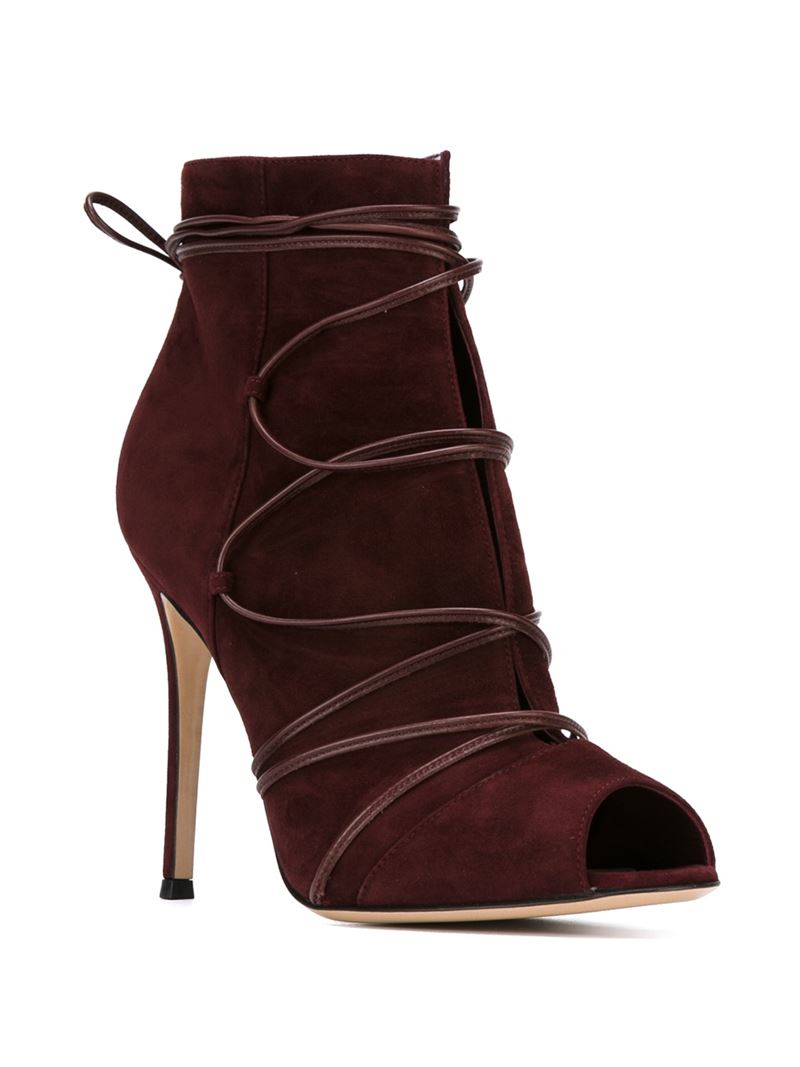 gianvito rossi 39 teva 39 ankle boots in purple lyst. Black Bedroom Furniture Sets. Home Design Ideas