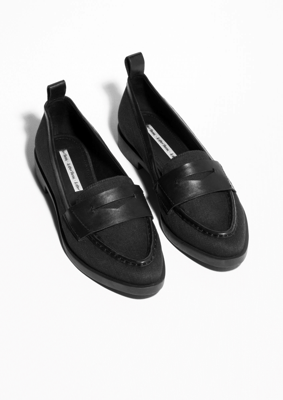 d80c9db8f99   Other Stories Leather Loafers in Black - Lyst