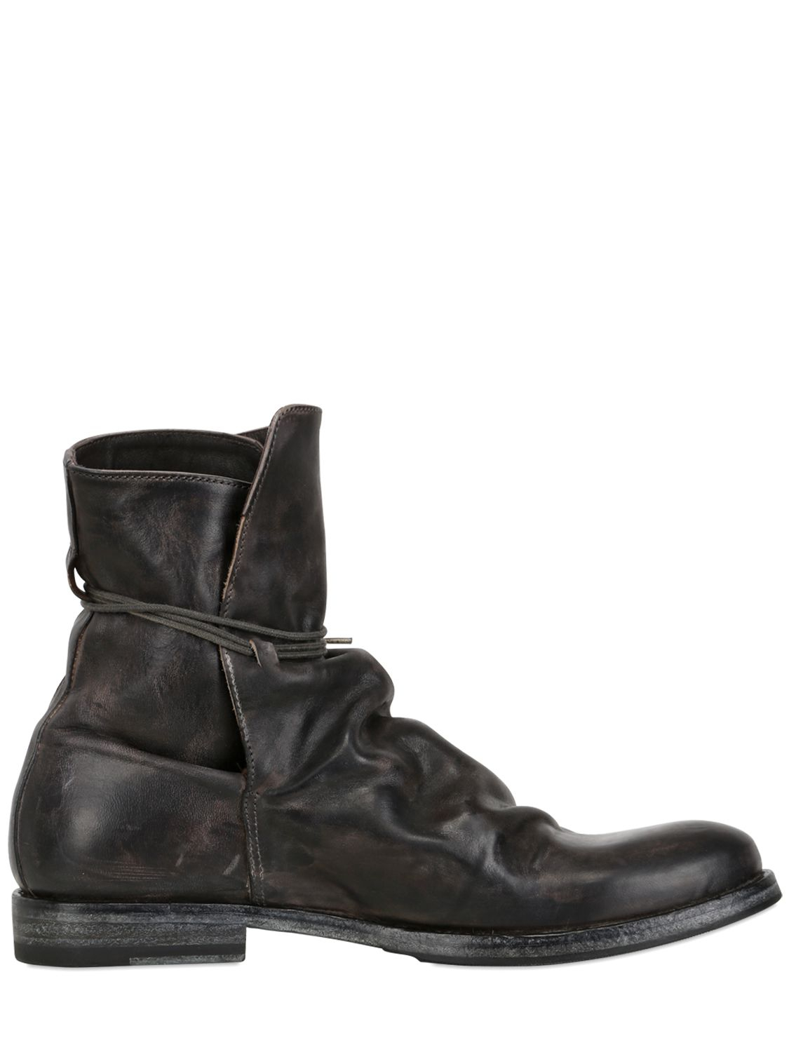 shoto vintage leather boots in gray for lyst