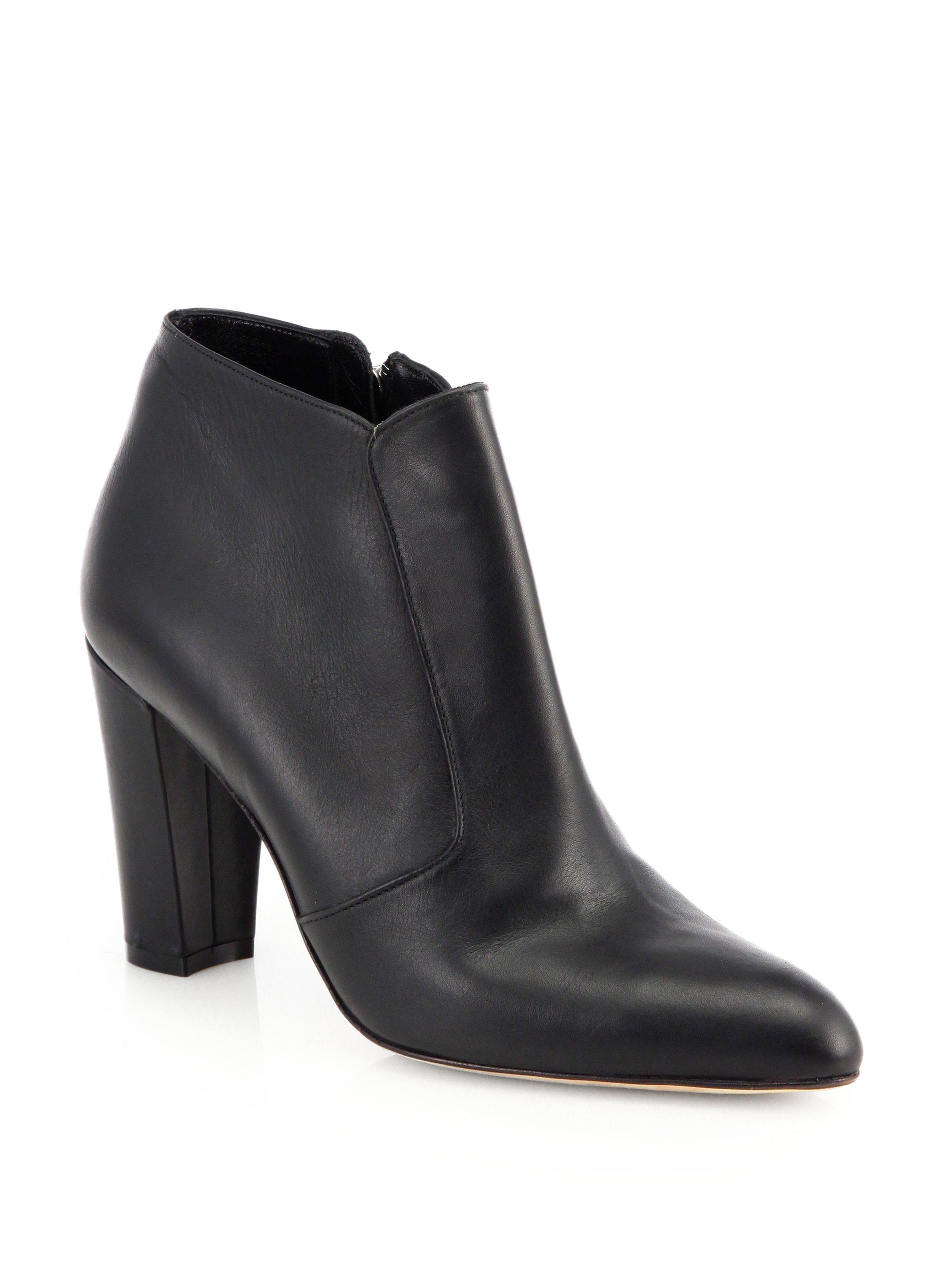 Manolo Blahnik Zavattplao Leather Ankle Boots in Black   Lyst