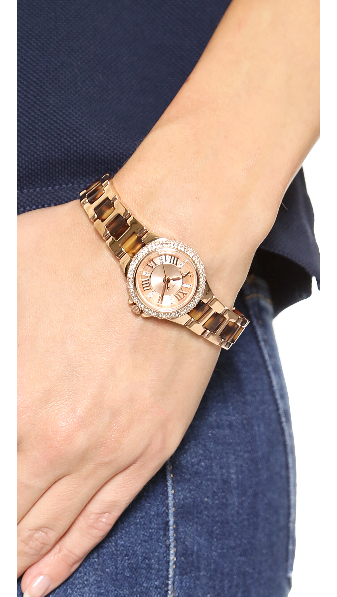 1eb7ca33b0c74 Michael Kors Petite Camille Watch Rose Goldtortoise in Pink - Lyst