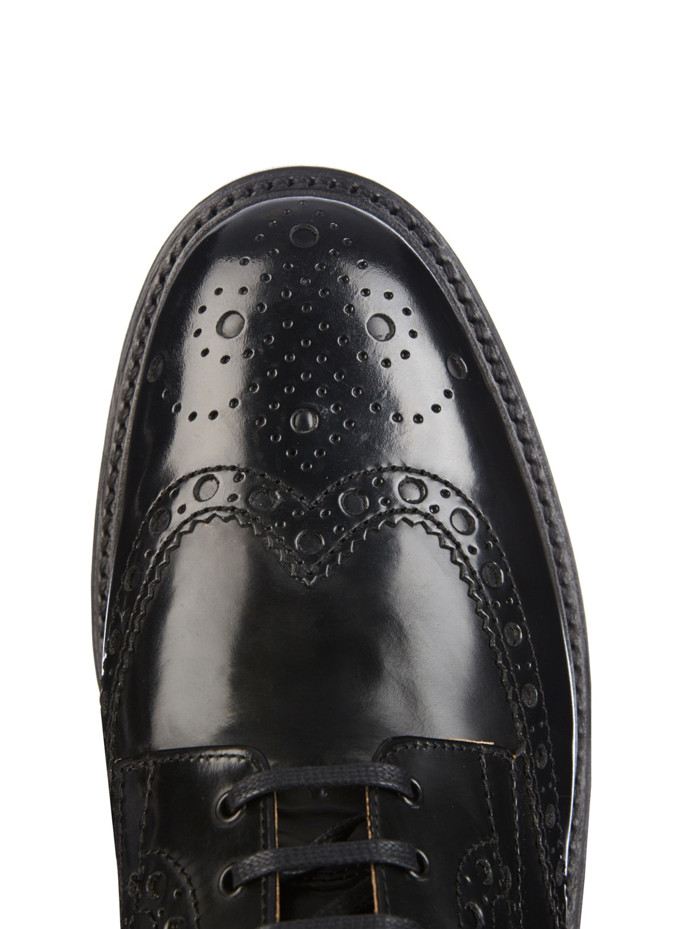 Foot The Coacher Fred Leather Brogue Boots In Black For