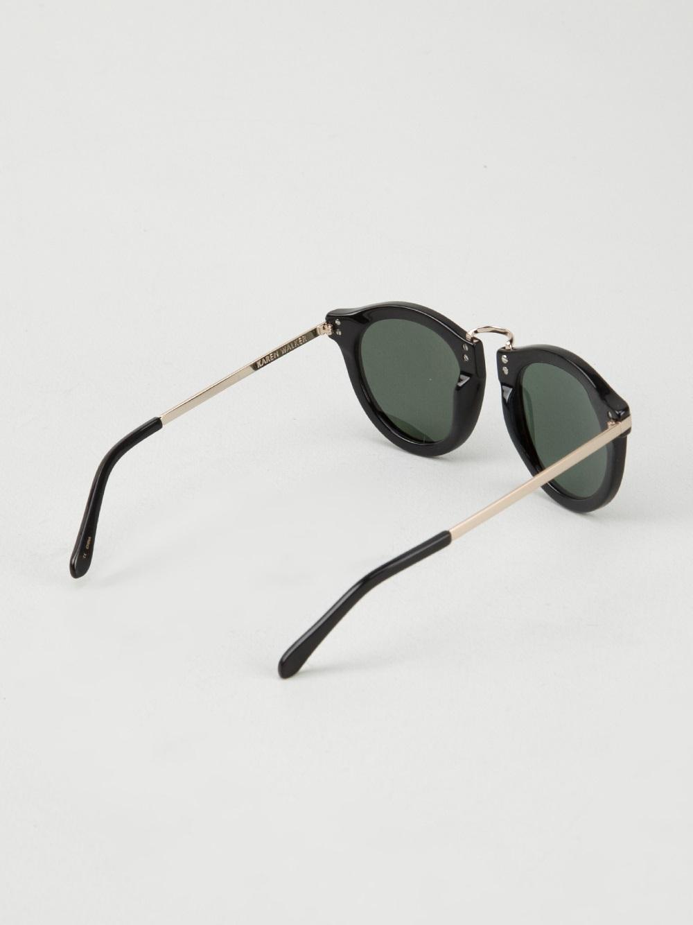 f7de2393ef87 RESERVED Karen Walker Harvest Source · Lyst Karen Walker Harvest Sunglasses  in Black