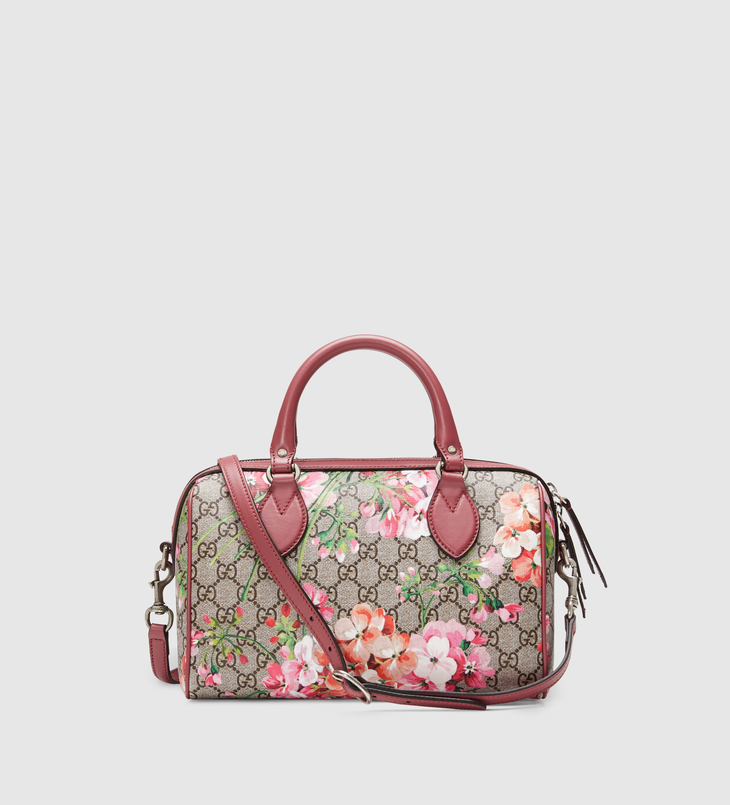 4db7bfd8d6d54b Gucci Blooms Gg Supreme Top Handle Bag in Purple - Lyst