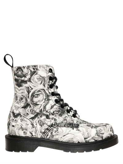 Dr Martens 30mm Skull Roses Printed Canvas Boots Lyst