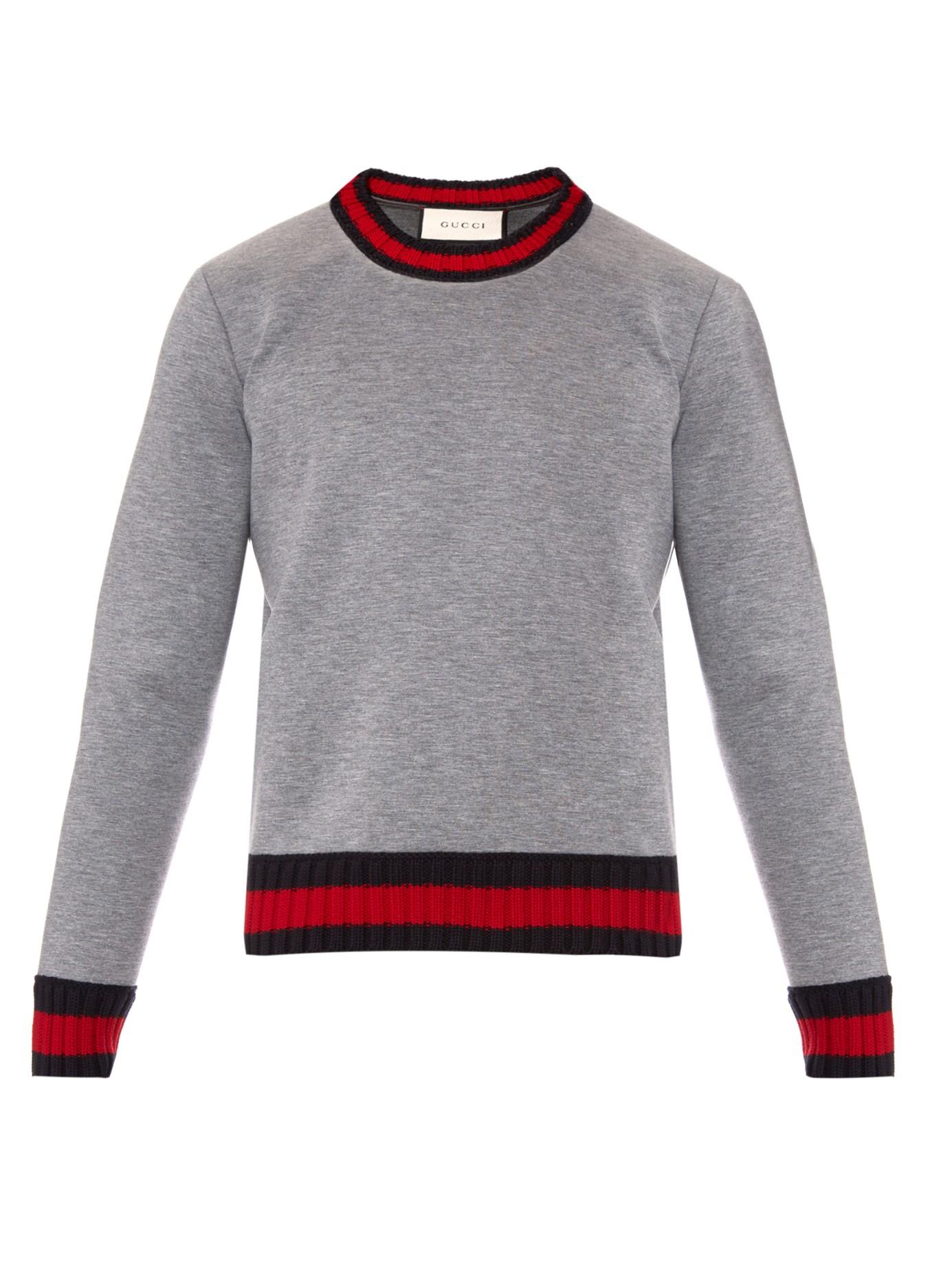 0f50f920c8a Lyst - Gucci Crew-neck Neoprene Sweatshirt in Gray for Men