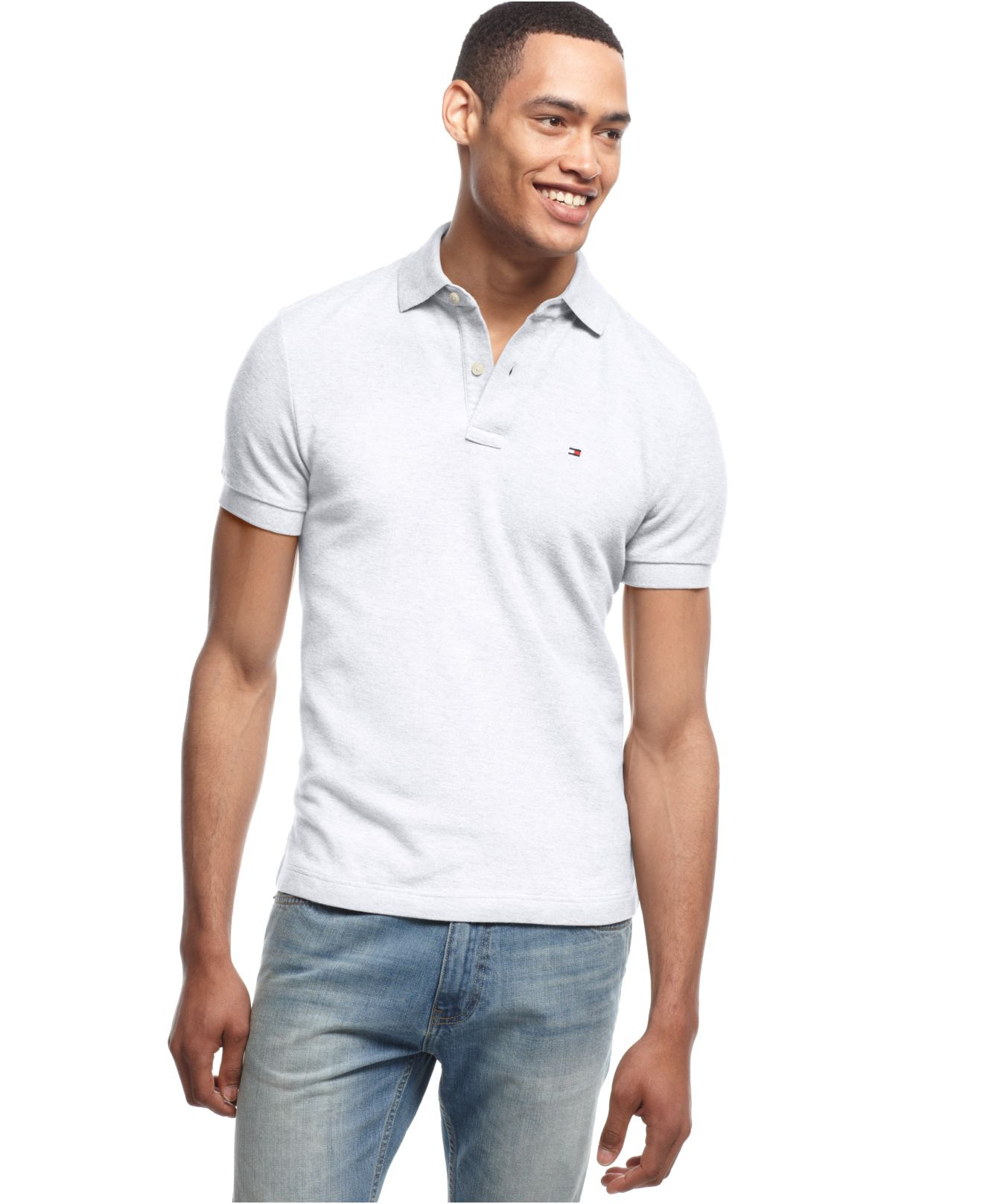 8e9775a20 Tommy Hilfiger Custom Fit Ivy Polo in White for Men - Lyst