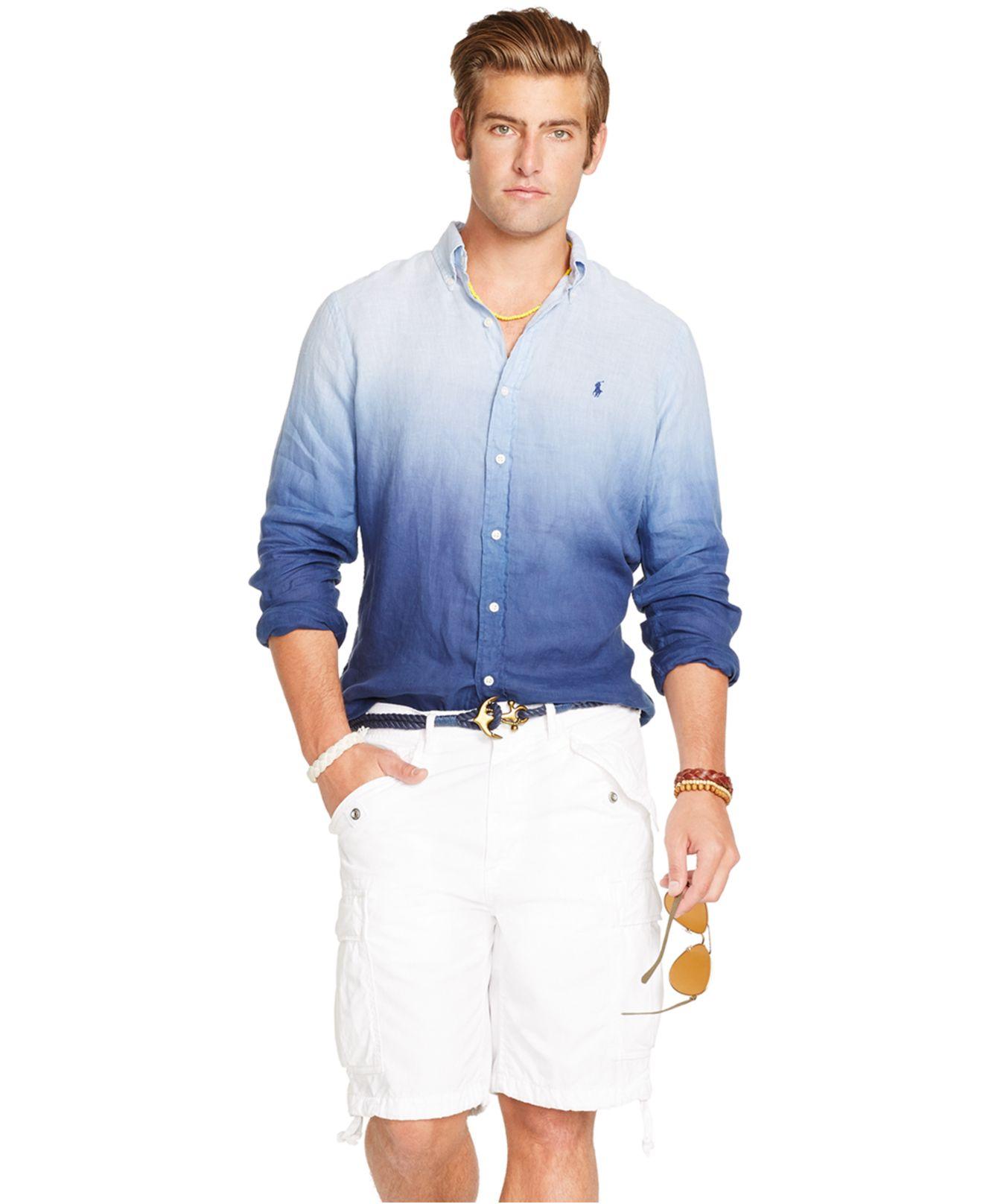 62f9eb231657 ... where can i buy polo ralph lauren mens linen button down shirt aef73  07fd7