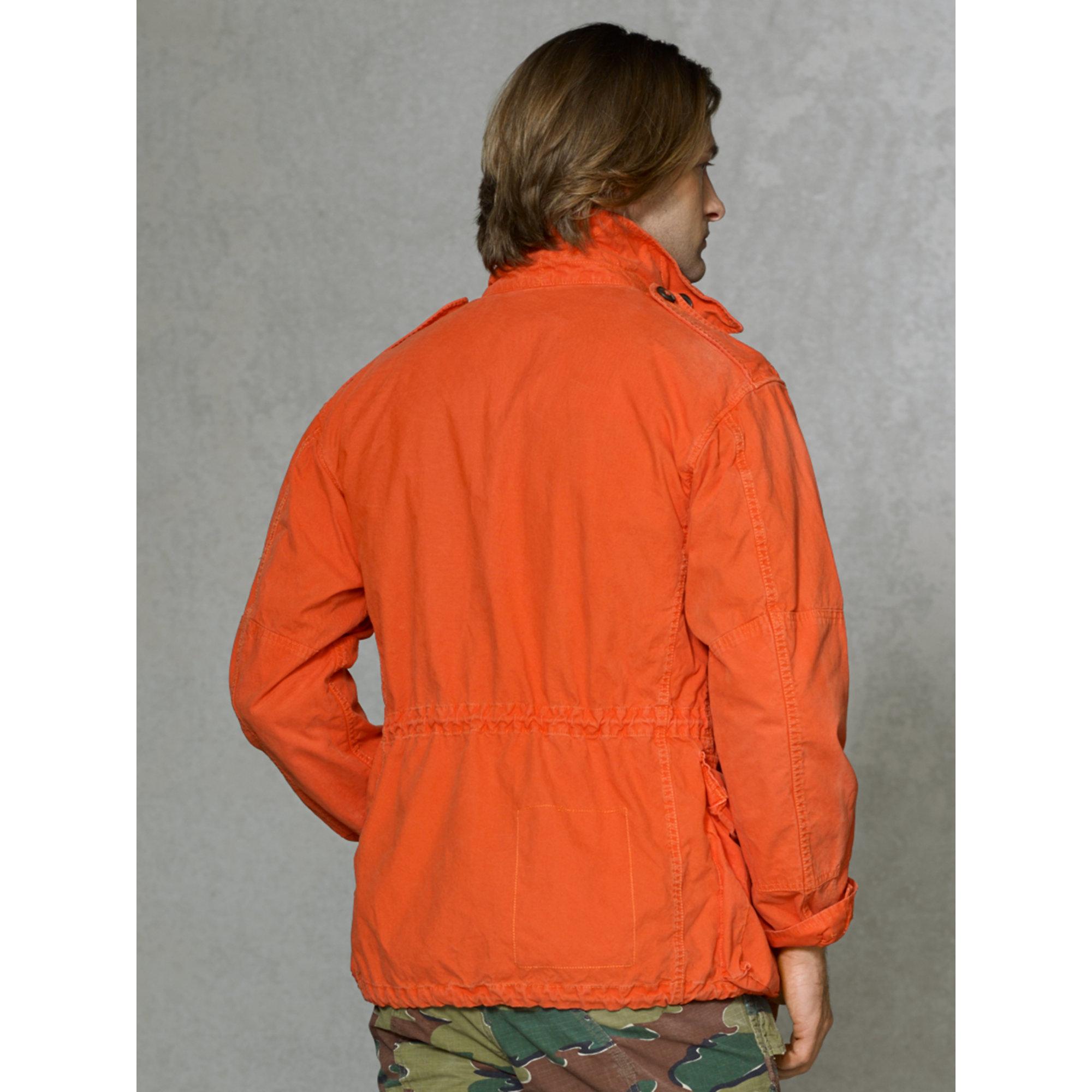 0a4ce74cb47 Lyst - Polo Ralph Lauren Lightweight Combat Jacket in Orange for Men