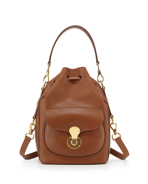 e385efa49fd1 Lyst - Ralph Lauren Ricky Napa Calfskin Bucket Bag in Brown