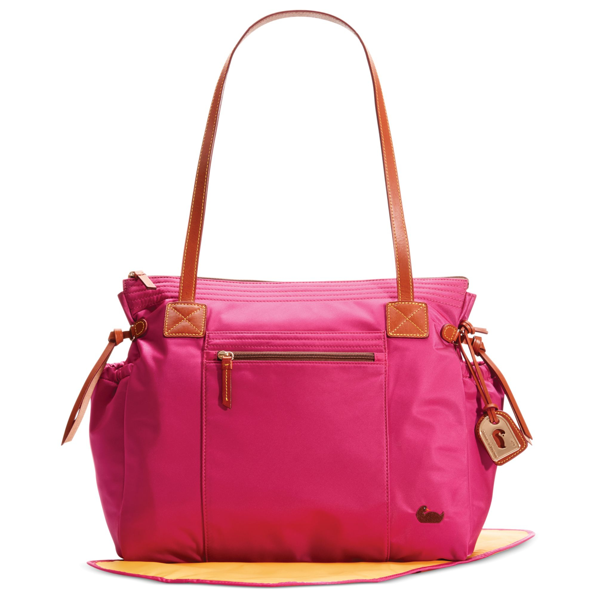 dooney bourke nylon diaper bag in pink lyst. Black Bedroom Furniture Sets. Home Design Ideas
