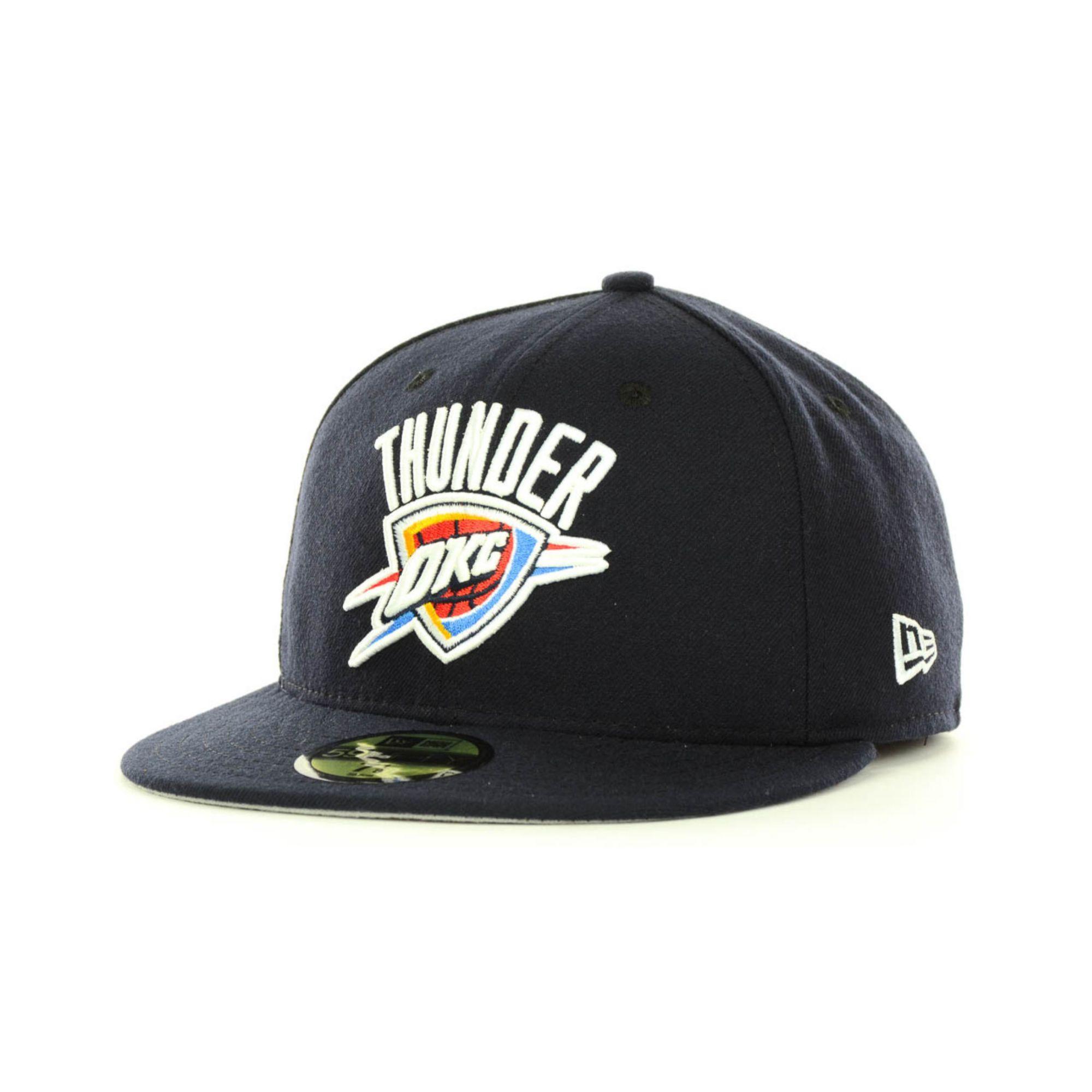 bd63e0653239b5 ... best price lyst ktz oklahoma city thunder nba current logo 59fifty cap  in 963ec 4d478