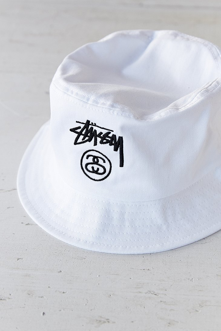 9e95dfb9fbe54a Stussy Stock Lock Bucket Hat in White for Men - Lyst