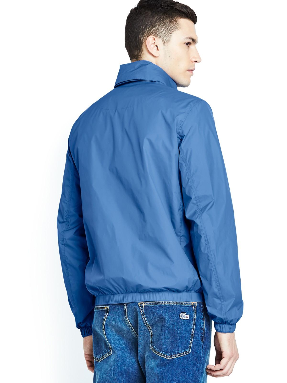 lacoste mens hooded sports jacket in blue for men lyst. Black Bedroom Furniture Sets. Home Design Ideas