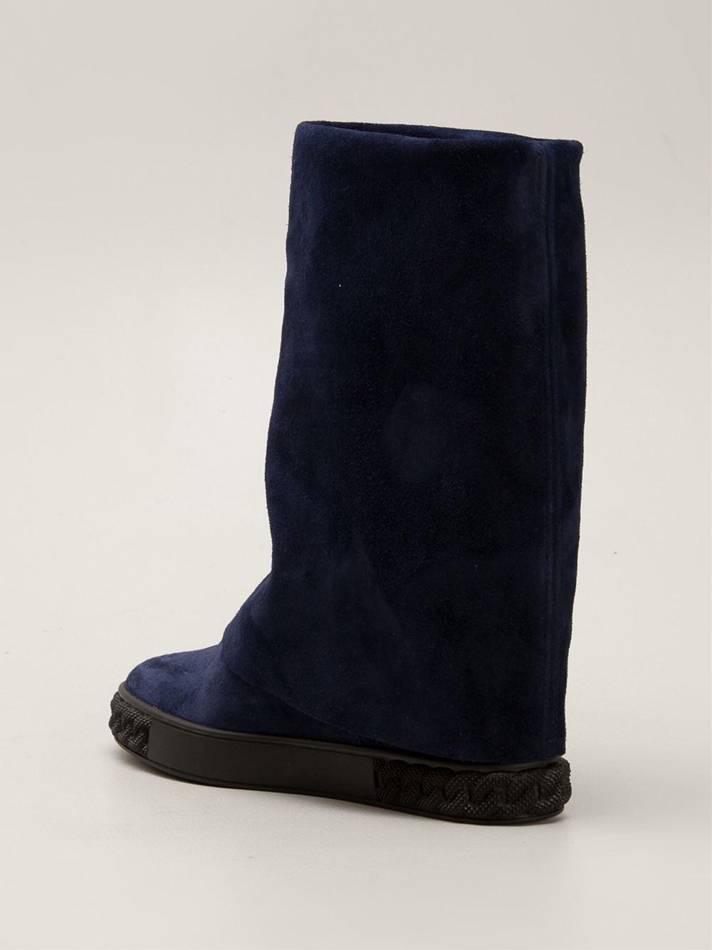 chain-trimmed boots - Blue Casadei 3q2qrn3oT