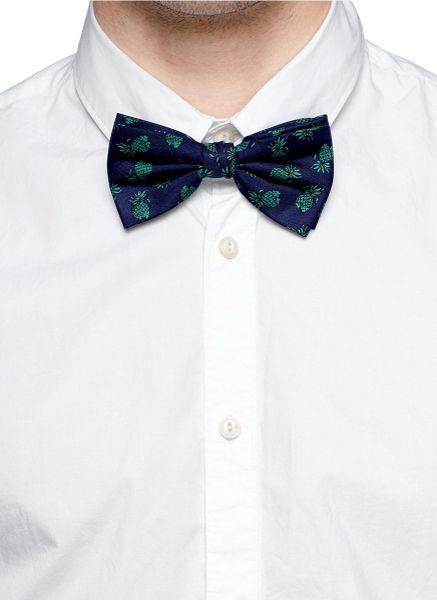 Scotch Soda Bow Tie Poplin Collar Shirt In White For Men