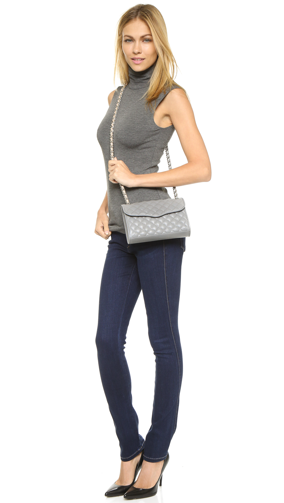 rebecca rm mini black with studs minkoff quilt affair quilted pin