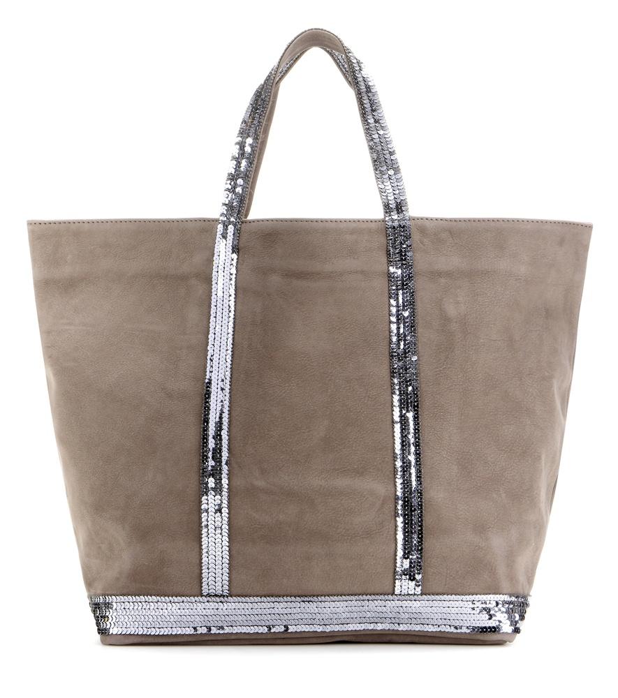 vanessa bruno cabas medium embellished leather shopper in gray lyst. Black Bedroom Furniture Sets. Home Design Ideas