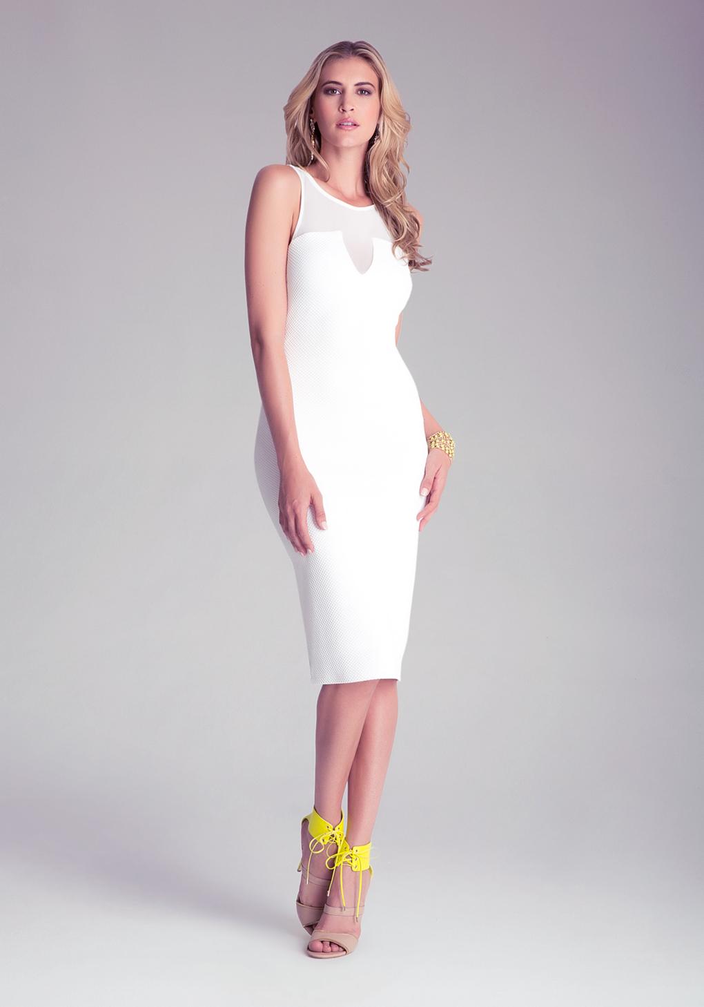 659879e6900f Gallery. Women's White Sheer Dresses ...