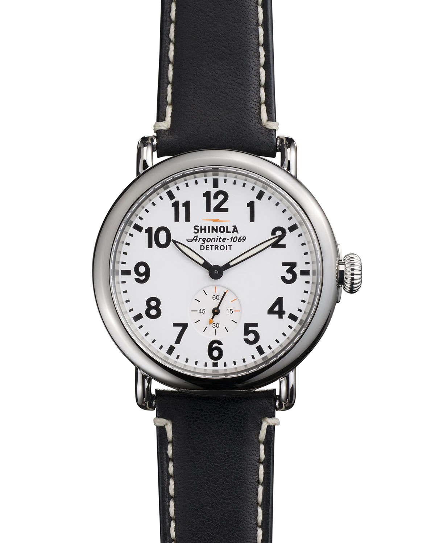 Shinola 41mm runwell men 39 s watch in metallic for men lyst for Shinola watches