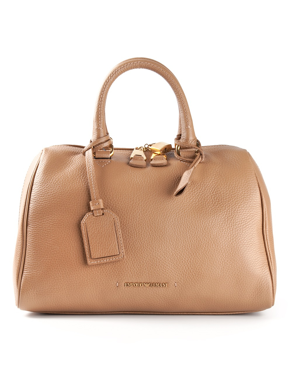 Lyst Emporio Armani Bowling Bag In Brown